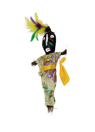 魔法の興味深い文化と運と運命の提案を表すブードゥー教人形