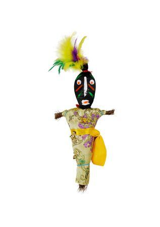 魔法の興味深い文化と運と運命の提案を表すブードゥー教の人形 写真素材