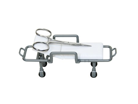 鉗子のセットと場所の間の患者輸送に使用される病院・ ガーニー 写真素材