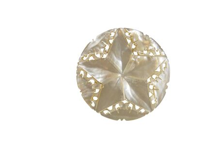 five star: Five point iridescent star made from mother of pearl-Path orig size