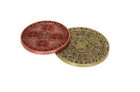 booty pirate: Collection of intricate gold coins stamped with symbols of wealth