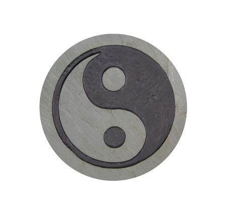 prevalent: Ying yang symbol of unity and peace which is prevalent in many Asian works