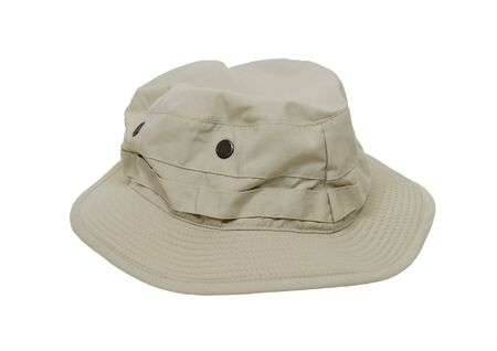 Floppy leisure hat for avoiding sunburn with areas where items can be tucked in and secured  Stock Photo