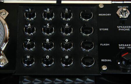 Retro antieke telefoon drukknoppen voor nummerkeuze nummers Stockfoto