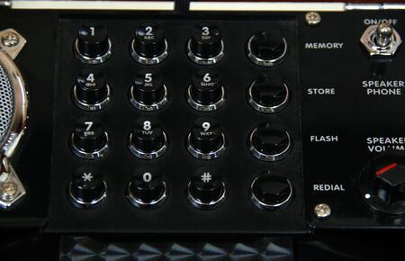 Retro antique phone push buttons for dialing numbers Stock fotó