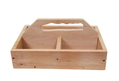 sturdy: Sturdy handmade wooden toobox served as a first attempt at a woodworking project to be used for storing tools - Path included Stock Photo