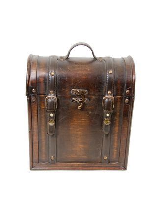 old items: An old antique wooden case for storing items