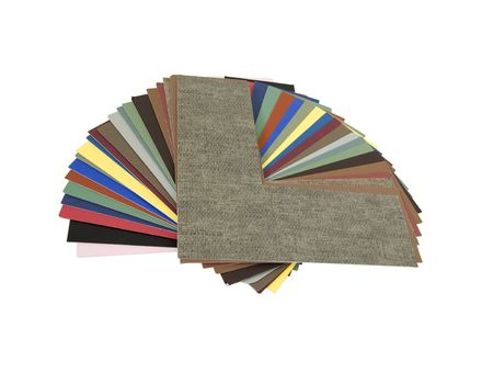 An assortment of colored matboard for designing an art framing project - path included