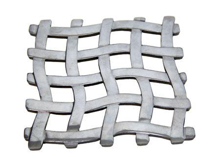 Resumen de una malla tejida de patrón contra un fondo blanco  Foto de archivo - 4871169