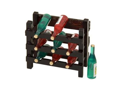 path to wealth: A full wine rack is a sign of success and wealth - path included