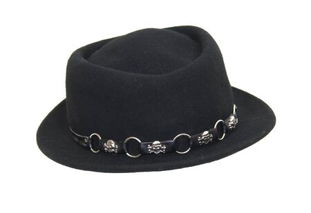 Fashionable Black hat to be worn on the head for protection and fashion