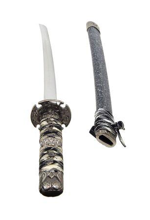 scheide: Samurai-Schwert mit eingebundenen Griff und Scheide ist ein Zeichen von macht und Respekt - enthalten