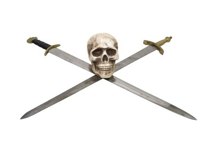 sturdy: Crossed Swords with sturdy hilts and a skull are a sign of power and respect - included
