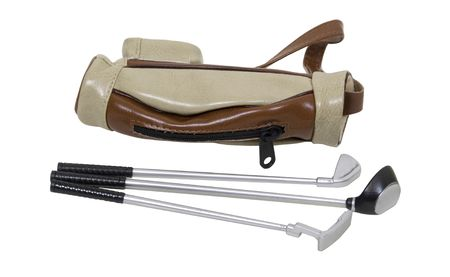Golf bag used to carry the clubs and balls used during the game