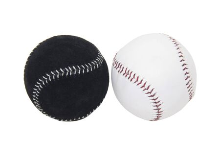 Diversity as shown by two different but equal baseballs