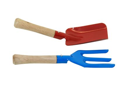 Tools used for tending the garden to make plants grow