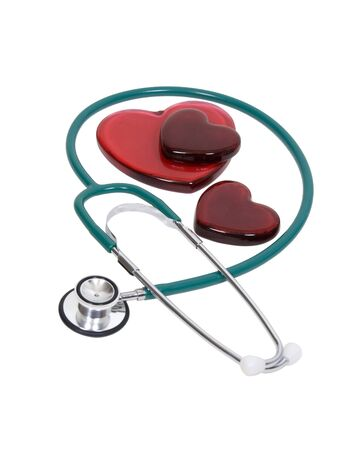 Medical stethoscope used to listen to heart beats for health care - included