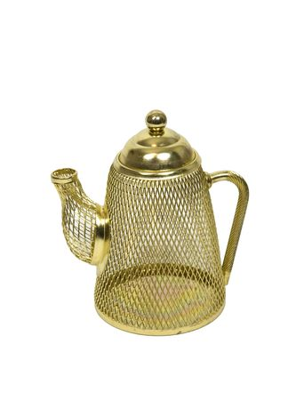 functionality: Mesh tea pot decoration that displays completely unusable functionality - included