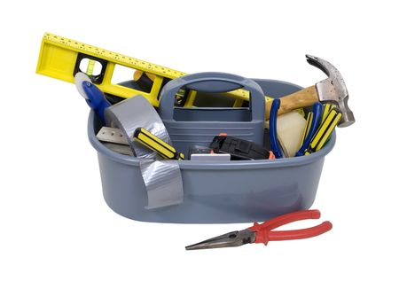 Tools used for fixing and repairing items for continued use and performance in a portable toolbox for convenience