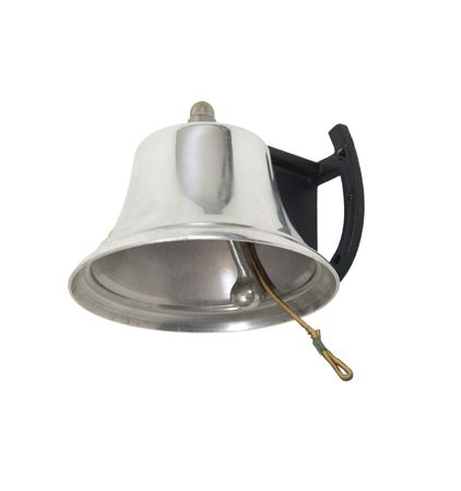 Large silver bell to attach to the wall to ring for service or attentive matters - included