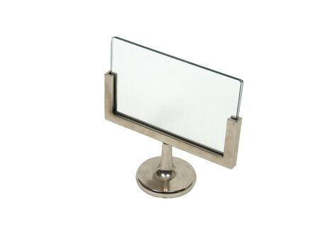 Blank sign ready for advertising your idea with a silver stand - included Stock Photo - 5258481