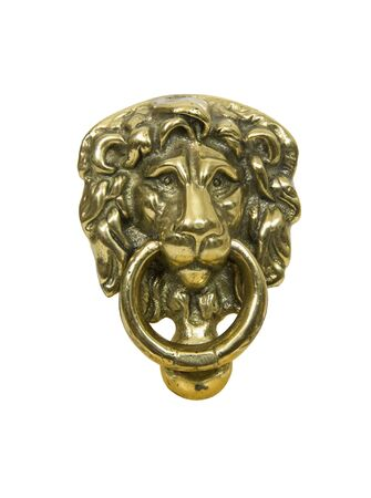 Traditional lion door knocker to add a sense of class to the entrance of the building - included Фото со стока
