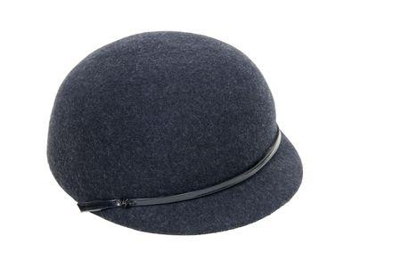 Retro black felt riding cap for equestrian events - included