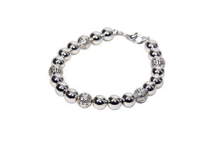 Jewelry chain of different silver balls combined together - included
