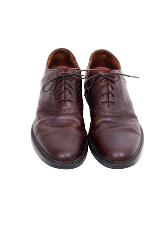 loafers: Mens comfortable brown leather loafers ready to be worn