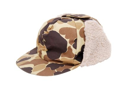 warmth: Camoflage hunters cap with ear flaps for warmth