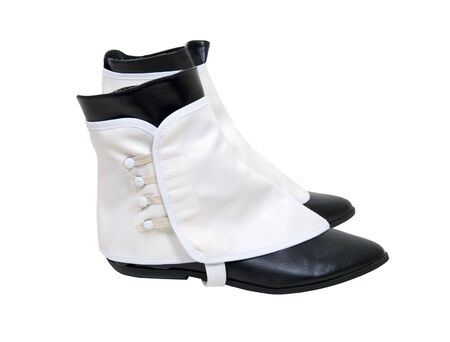 Traditional white spats worn over black boots Stock Photo - 5401875