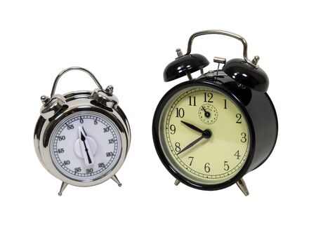 Convenient silver belled timer alarm for counting down time
