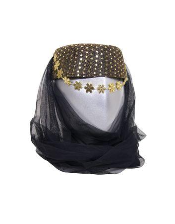 Arabian nights harem headwear with sequins and a veil  Фото со стока