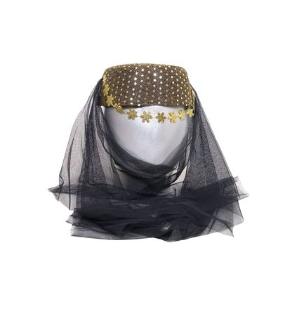 Arabian nights harem headwear with sequins and a veil