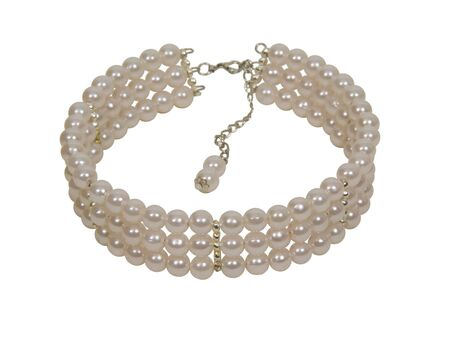 Pearl necklace with a chain clasp is symbol of luxury