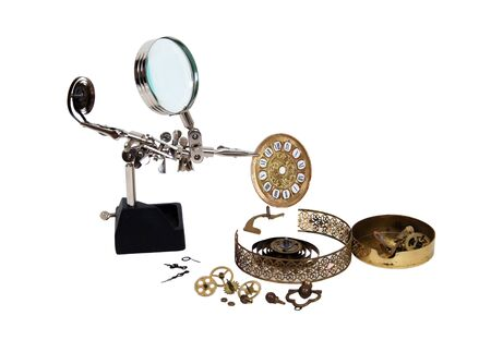 tinkered: Aparte de tiempo mostrado por un reloj en medio de ser retocada y mantenidos por herramientas
