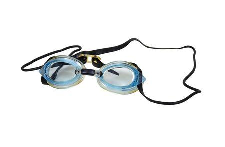 水泳ゴーグル泳ぐとき目から水を維持するために使用 写真素材