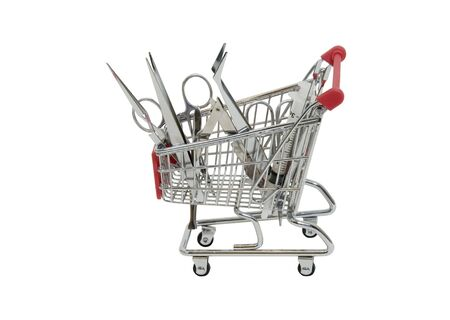 Searching for medical tools shown by precise instruments in a shopping cart