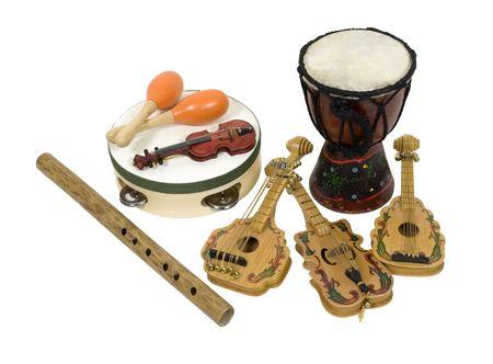 楽器: さまざまな楽器を楽しむと音楽 - 含まれているパスを鑑賞 写真素材