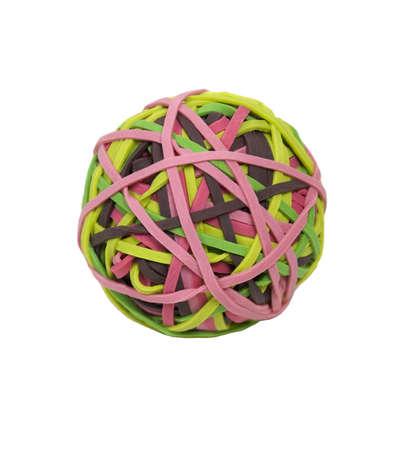 rubberband: Bola de Rubberband que mantiene suministros f�cilmente a mano con colores brillantes  Foto de archivo