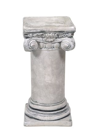 White stone formal pedestal for raising up an item of importance