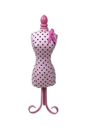 Roze jurkvorm gebruikt voor kleermakerij en merchandising Stockfoto - 7652237