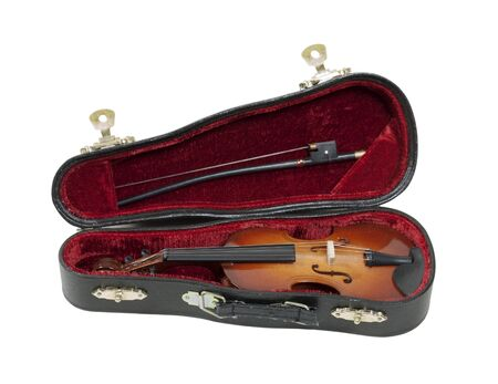 at ease: Classical wooden Violin with molded carrying case for ease of travel - path included