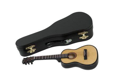 moulded: Guitarra cl�sica de madera con Malet�n moldeado listo para jugar