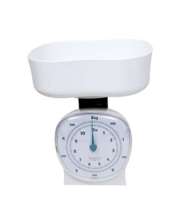 Basket scale used to weigh small items in a container