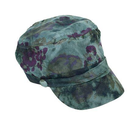 皮肉 - パスを含めるのタッチのダーク グリーンのタイ染料コマンドー帽子