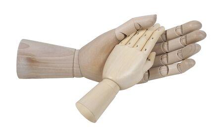 大きな手小さな手で助けを求める
