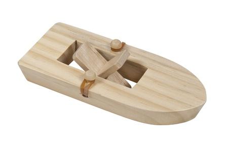 rubberband: Rubberband con el barco de madera paddle - ruta incluida