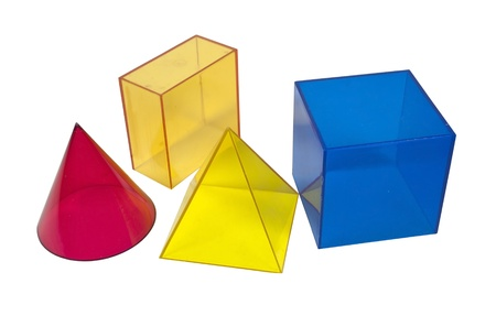 Several geometric shapes used for educational purposes
