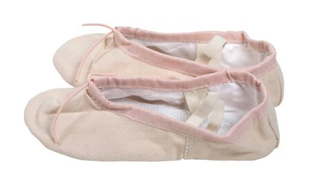 Pink Ballet slippers worn while dancing ballet